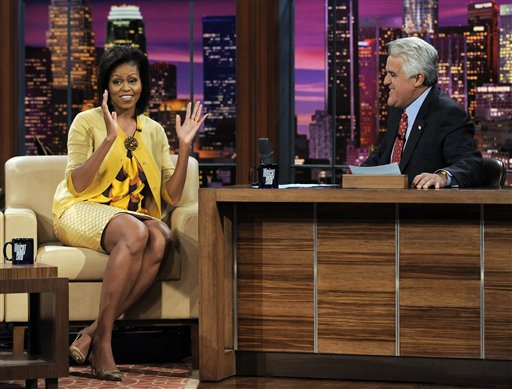 Michelle Obama, Jay Leno,