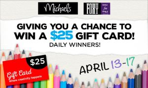 Michaels Arts and Crafts Online Contest