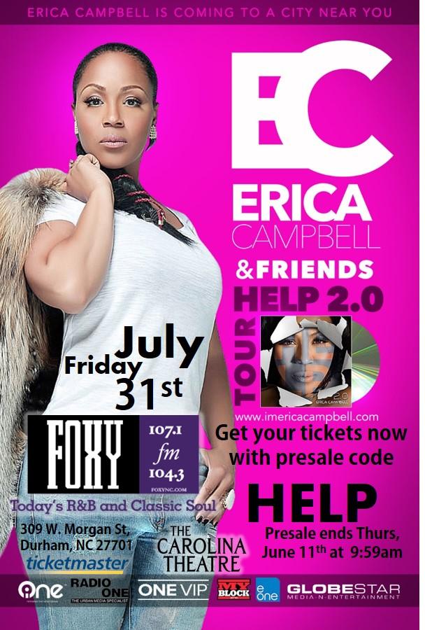 Erica Campbell HELP Tour Promo