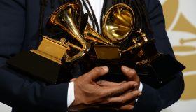 US-MUSIC-GRAMMY AWARDS-TROPHY
