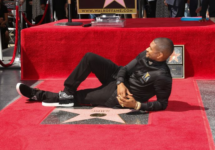 Usher Honored With Star On The Hollywood Walk Of Fame
