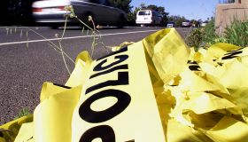 Laguna Beach––Northbound traffic and yellow police tape on the side of the road is all that's left n