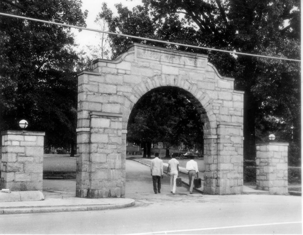 In this 1970 file photograph, the entrance to Johnson C. Smi
