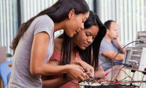 Black girls at internship