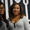 Gabby Douglas and Karen Clark