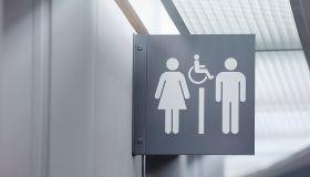 Toilet sign.