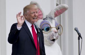 US-POLITICS-TRUMP-EASTER EGG ROLL