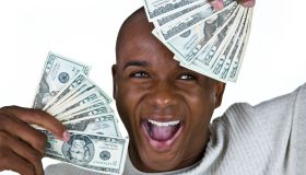 Man with money and happy expression