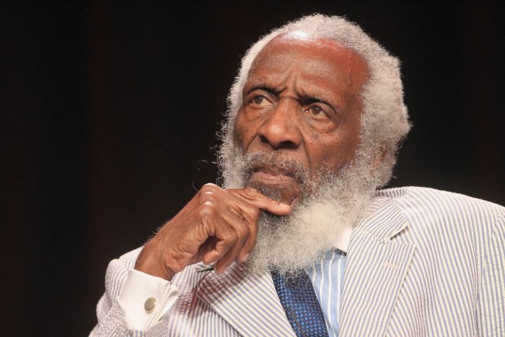 """""""I am so sick and tired of seeing a black person shot in the back, shot dead, followed by people saying, 'Not all cops are bad.'"""" - Dick Gregory"""