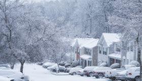 Snow in Atlanta, USA