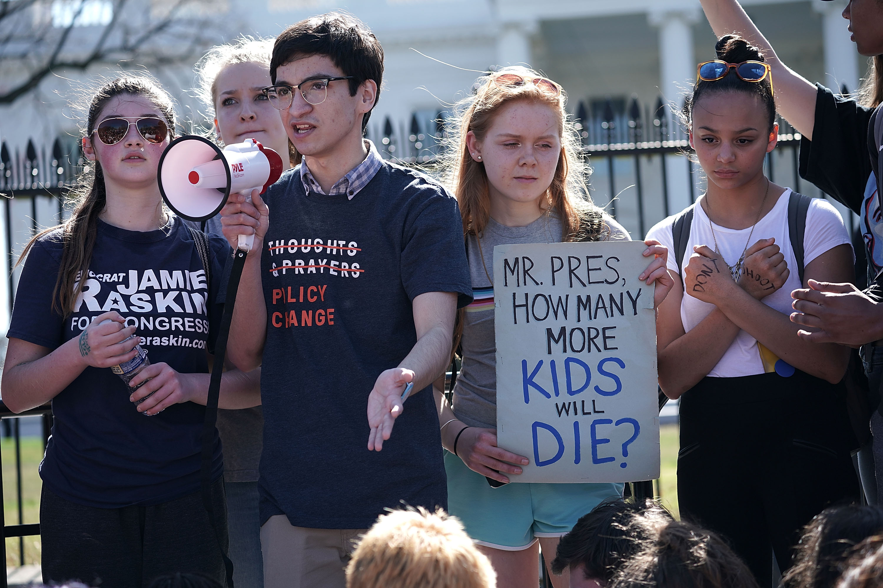 Students From A Maryland High School Organize Walkout And March On Capitol Demanding Gun Control Action From Congress