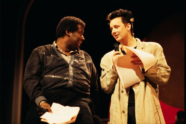 Luther Vandross and Boy George at the Apollo Theater