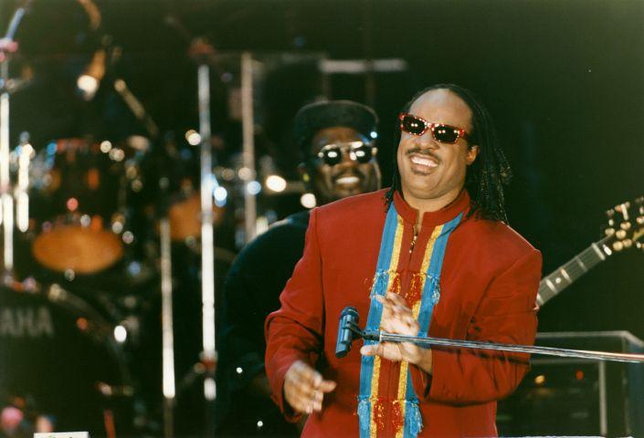 Stevie Wonder lors d'une soirée