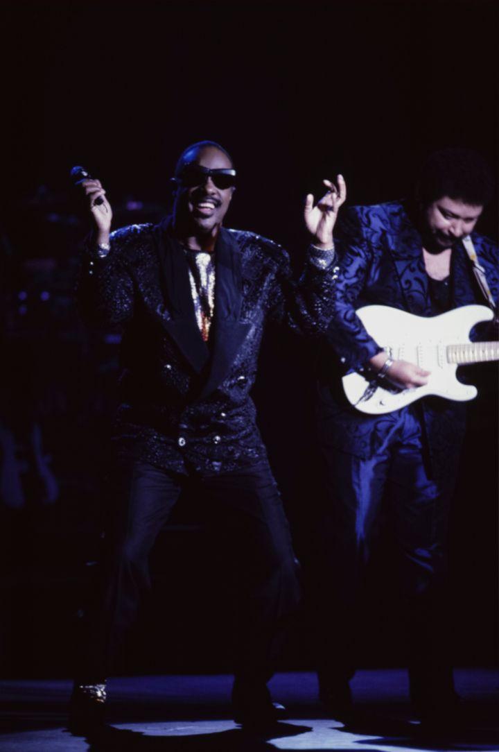 Stevie Wonder en concert en 1989