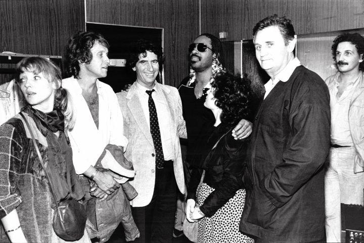Jack Lang et son épouse fêtent Stevie Wonder