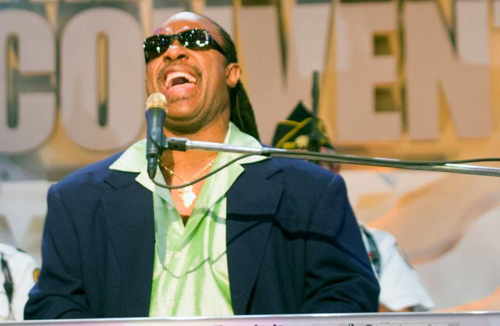 Stevie Wonder at DNC Convention Los Angeles