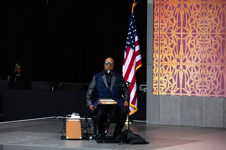 Stevie Wonder At NMAAHC Opening