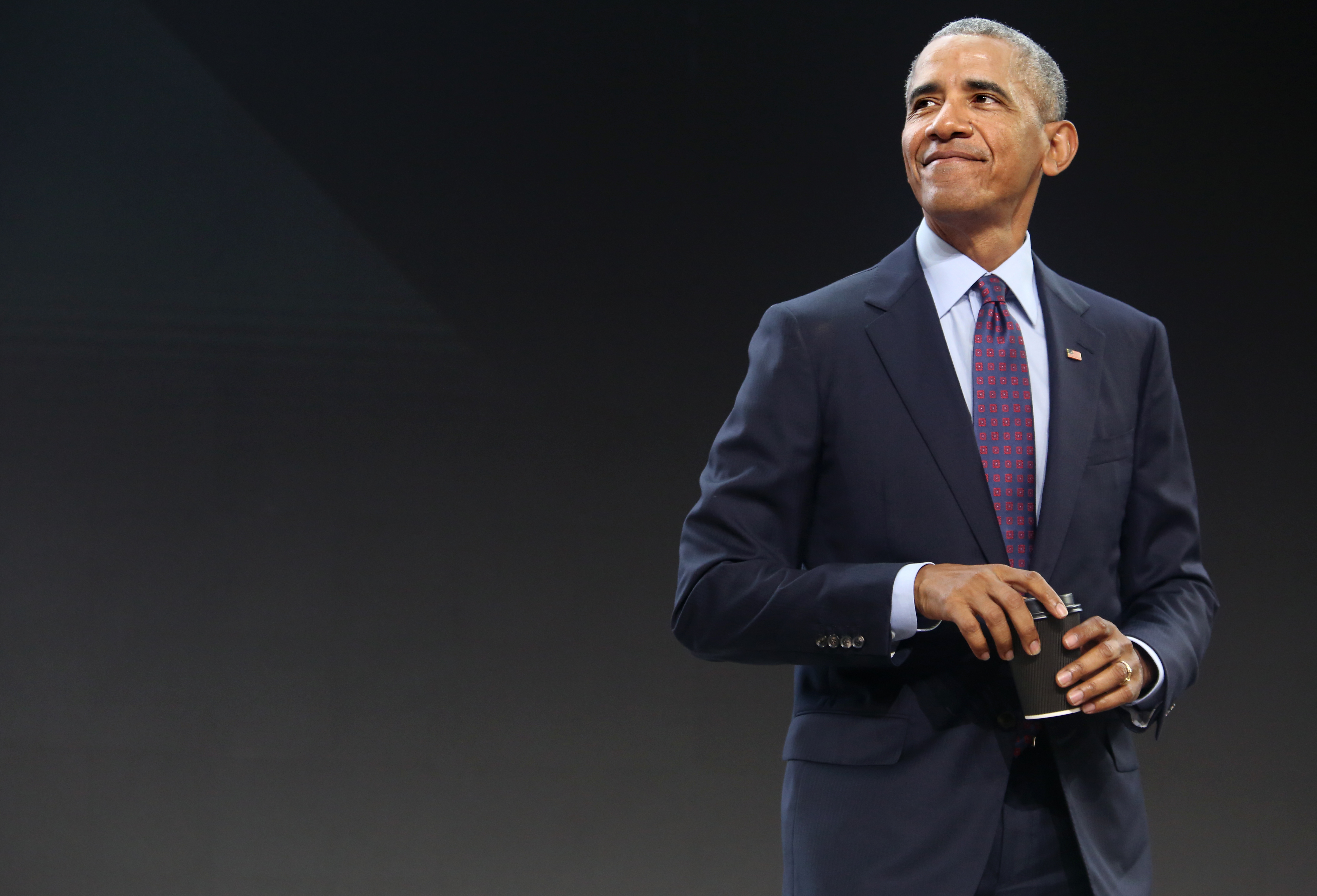 Former President Obama Speaks At The Gates Foundation Inaugural Goalkeepers Event
