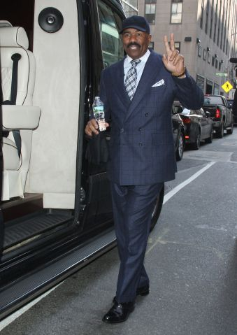 Steve Harvey out and about in New York City