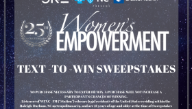 Women's Empowerment 2019 text to win sweeps graphic