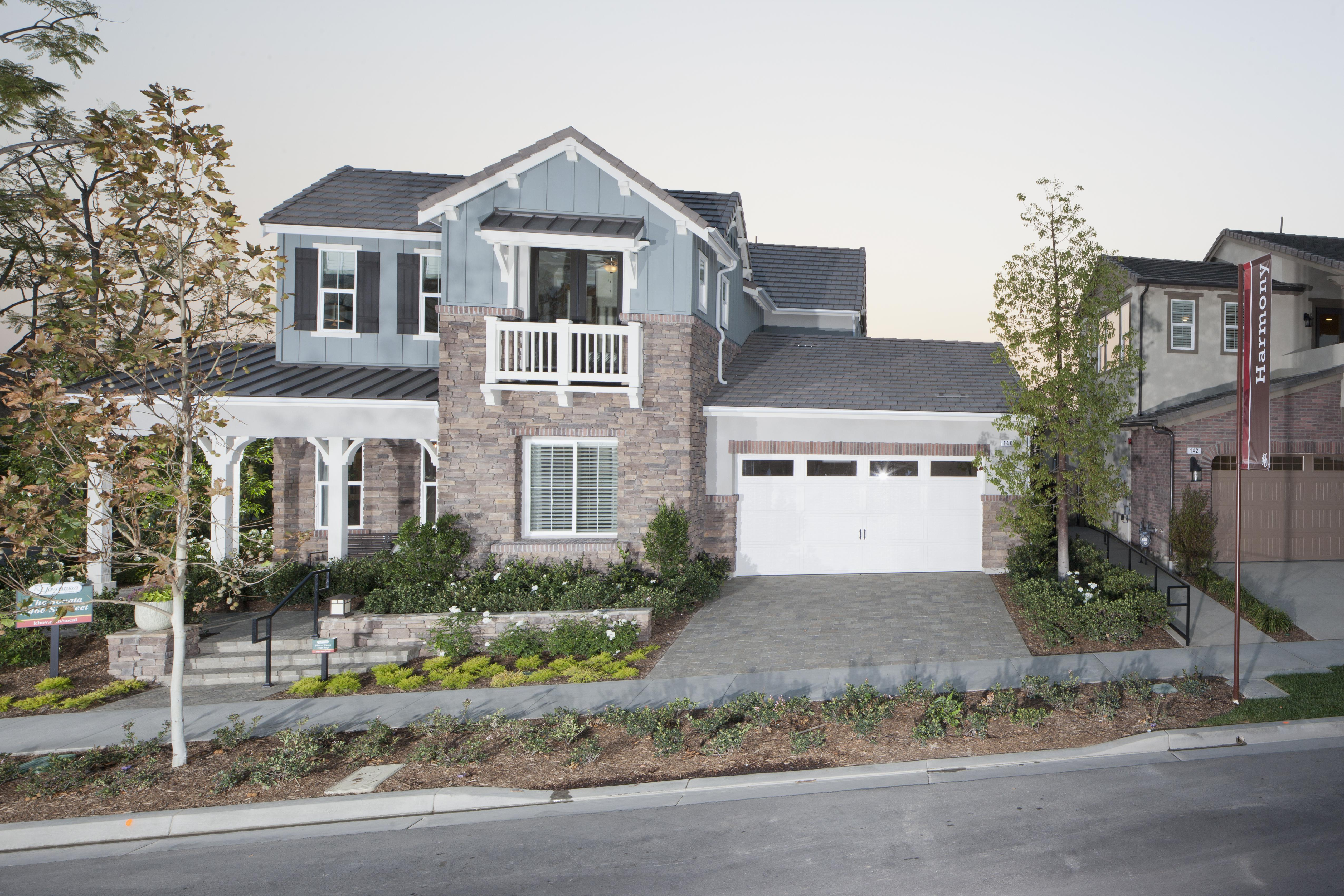 Exterior of two story house with driveway