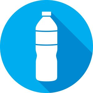 Water Bottle Icon Silhouette