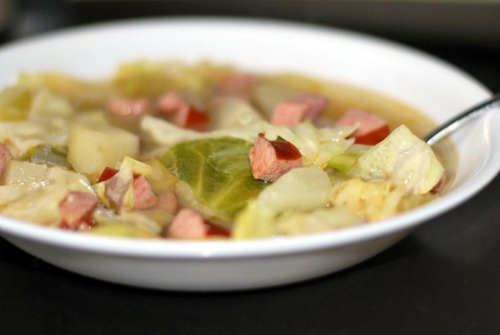 Smoked Sausage, Cabbage & Potato Soup