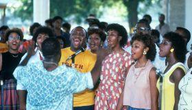 Choir singing at 'Juneteenth' emancipation day celebrations
