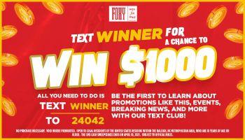 SMS Cash Contest