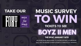 fxc music survey Boyz II Men Live at The DPAC, Sunday Night January 16th