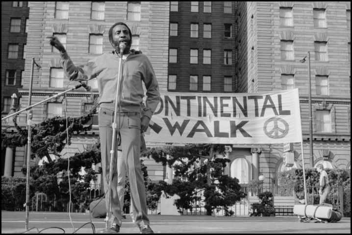 Dick Gregory At The Continental Walk Rally